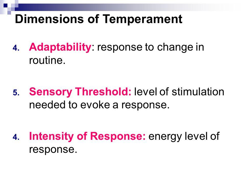 Dimensions of Temperament