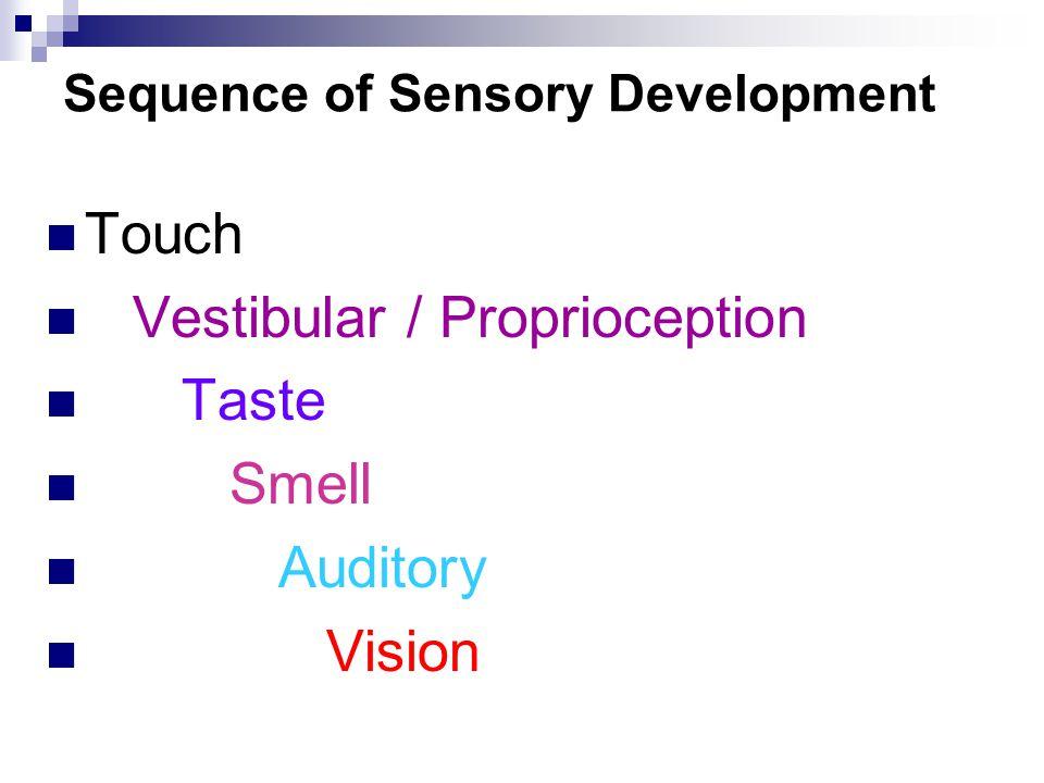 Sequence of Sensory Development