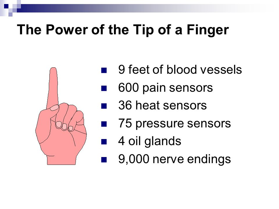 The Power of the Tip of a Finger