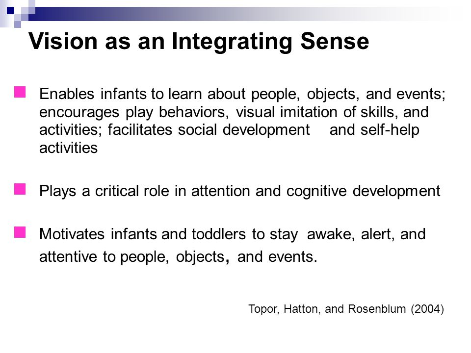 Vision as an Integrating Sense