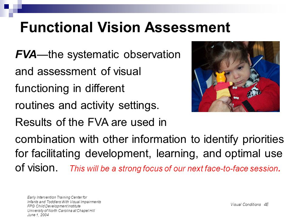 Functional Vision Assessment