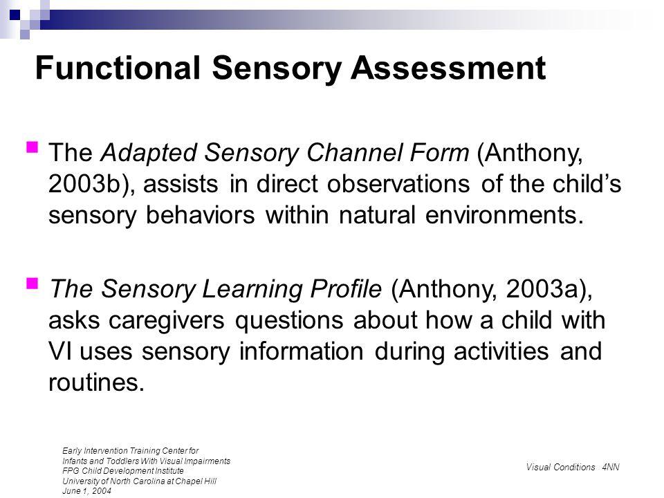 Functional Sensory Assessment