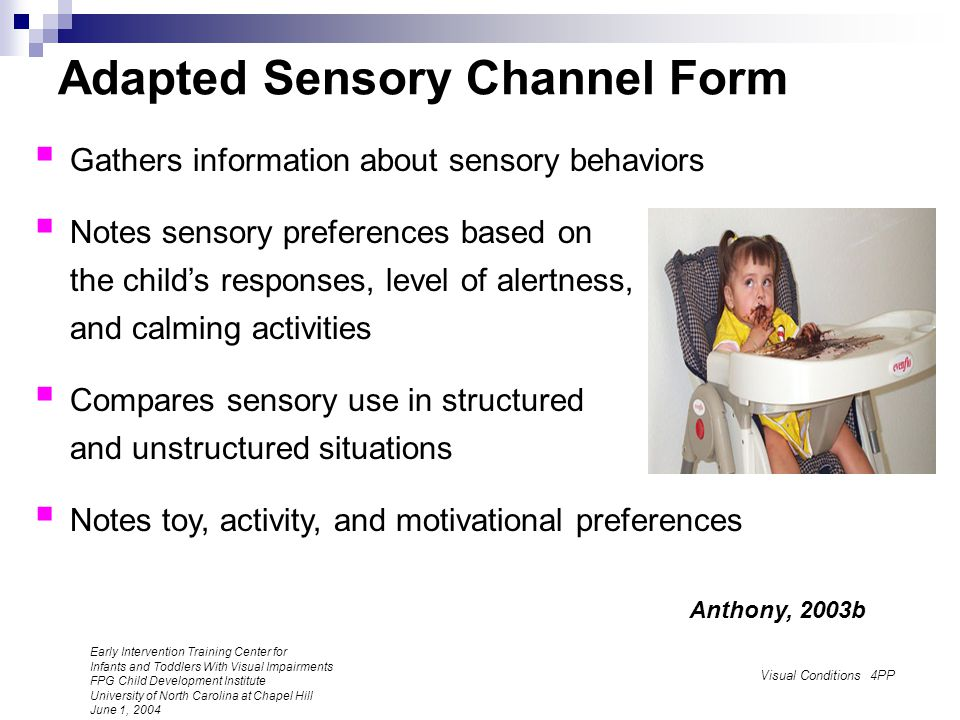 Adapted Sensory Channel Form