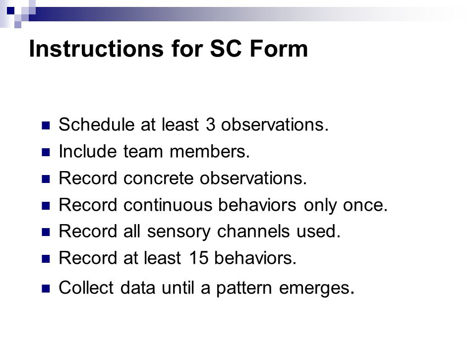 Instructions for SC Form
