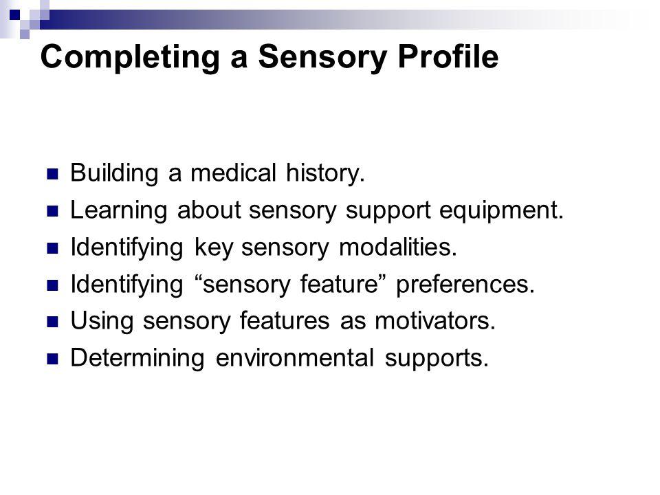 Completing a Sensory Profile