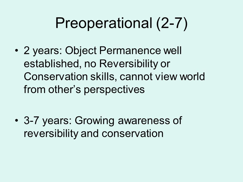 Preoperational (2-7)