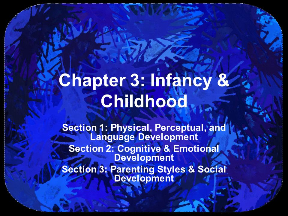 Chapter 3: Infancy & Childhood