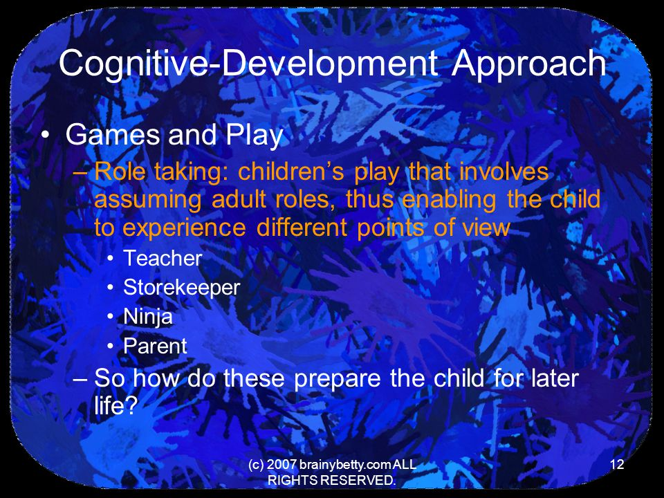 Cognitive-Development Approach
