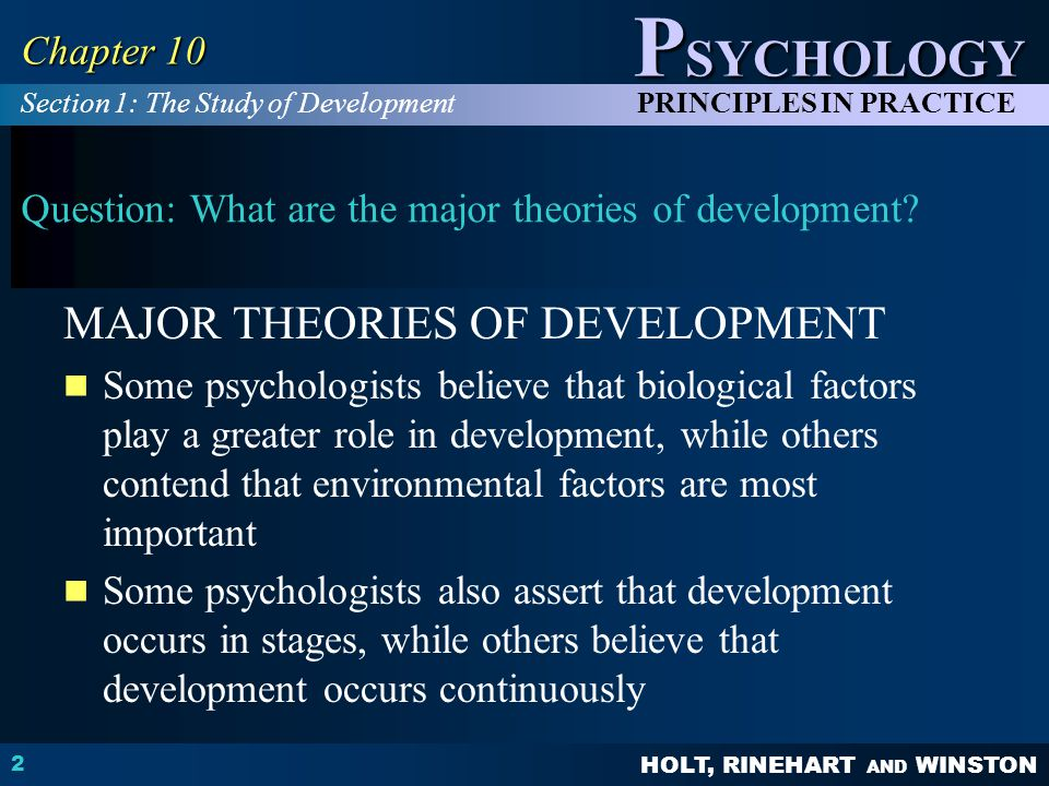 Question: What are the major theories of development