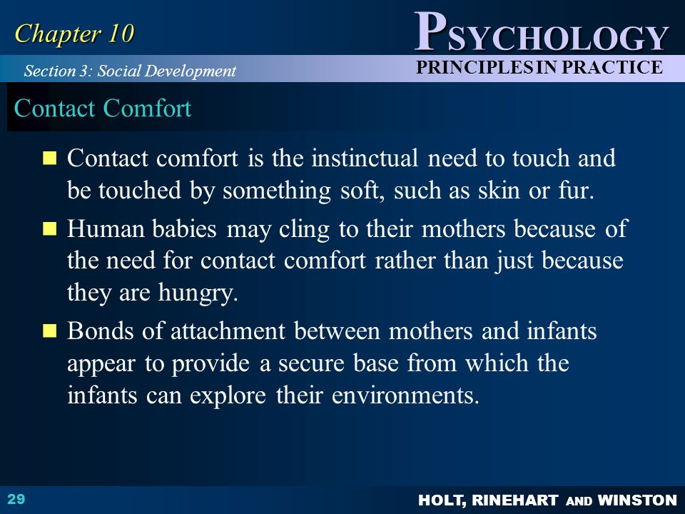 Chapter 10 Contact Comfort