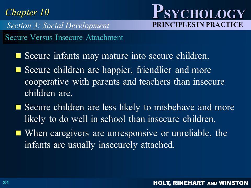 Secure Versus Insecure Attachment
