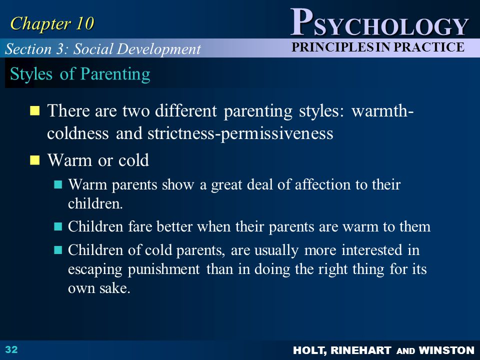 Chapter 10 Styles of Parenting