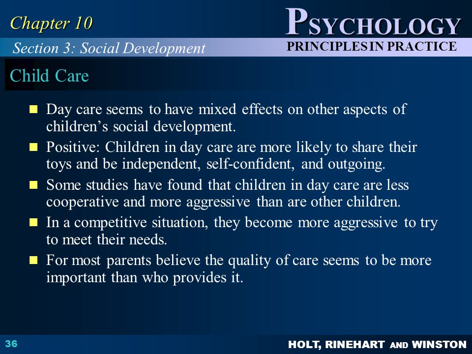 Chapter 10 Child Care Section 3: Social Development