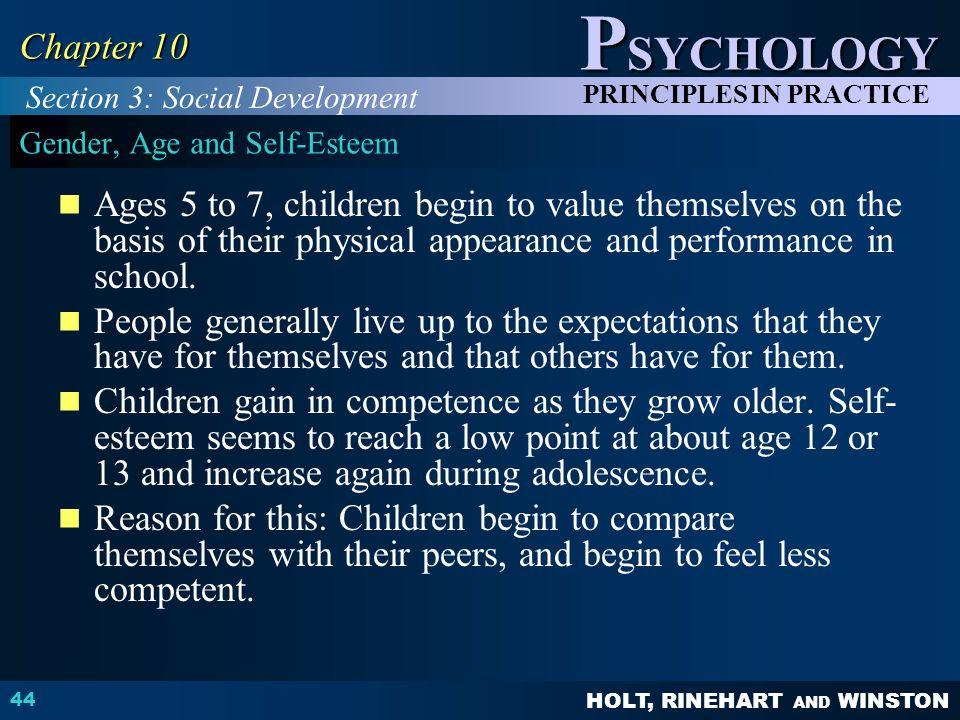 Gender, Age and Self-Esteem