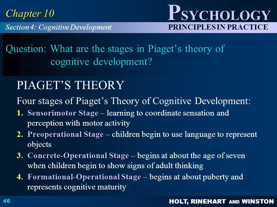 PIAGET'S THEORY Chapter 10