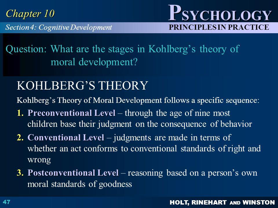 KOHLBERG'S THEORY Chapter 10