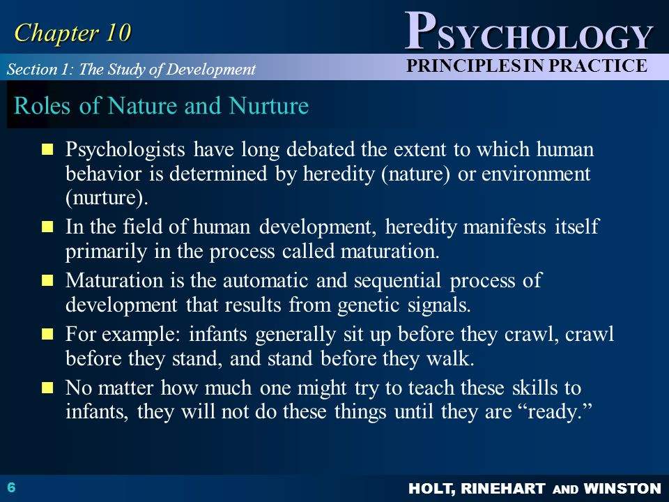 Roles of Nature and Nurture