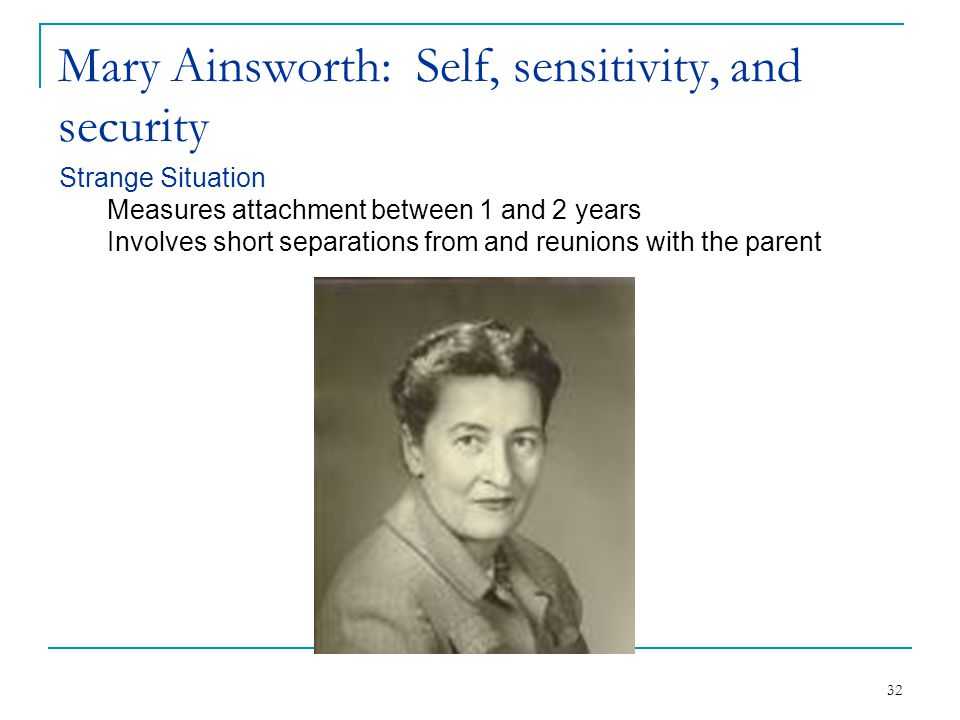 Mary Ainsworth: Self, sensitivity, and security