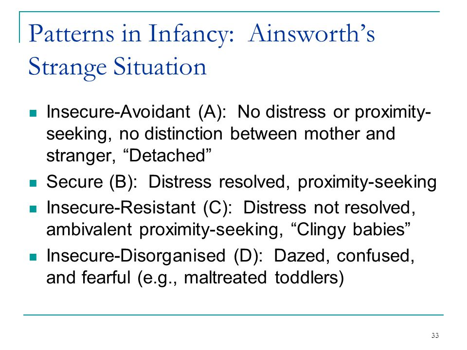 Patterns in Infancy: Ainsworth's Strange Situation