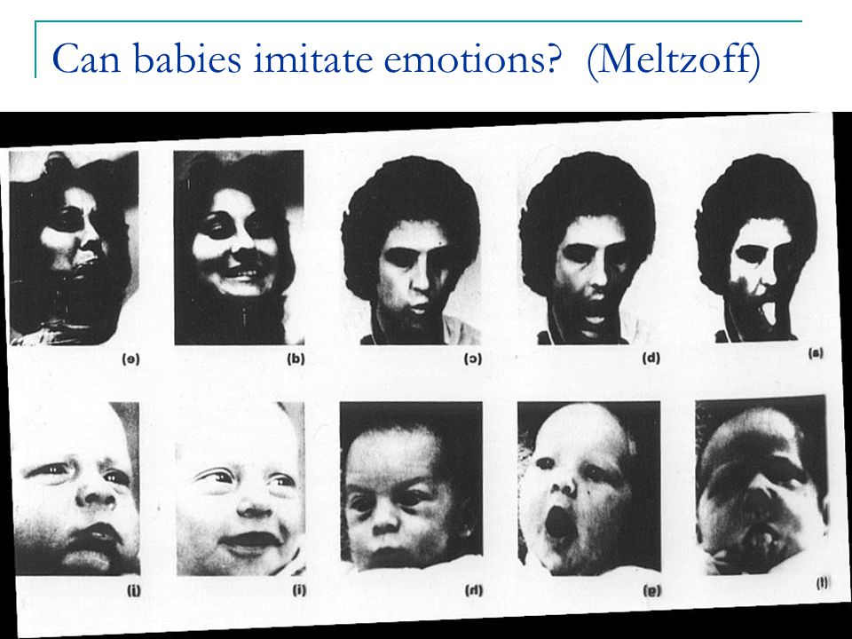 Can babies imitate emotions (Meltzoff)