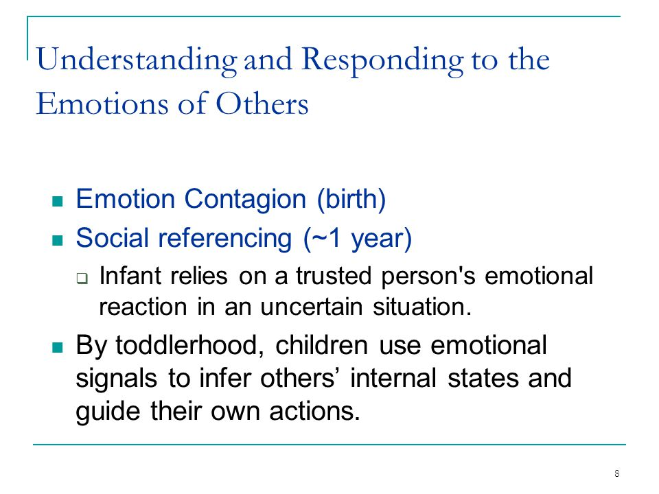 Understanding and Responding to the Emotions of Others