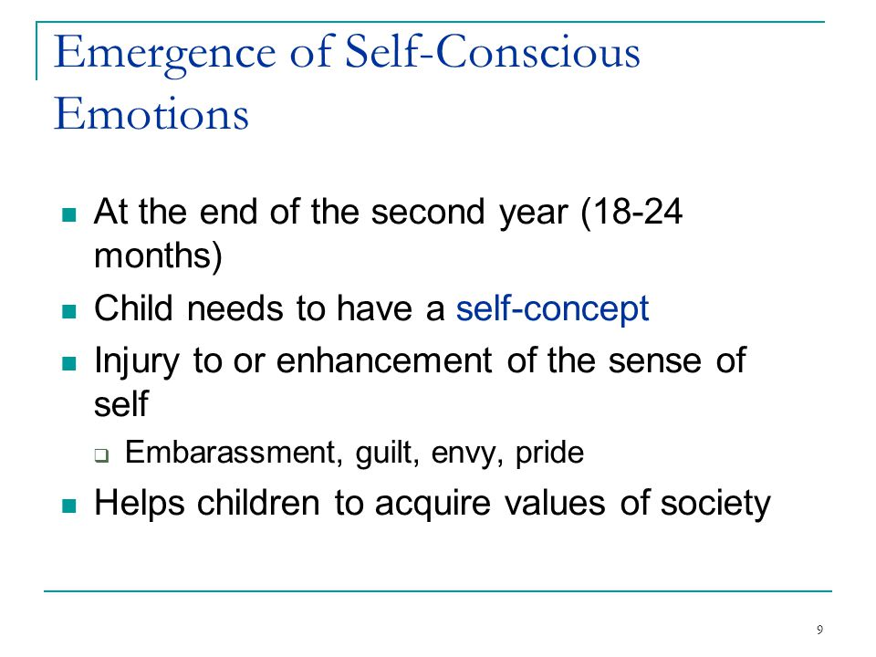 Emergence of Self-Conscious Emotions