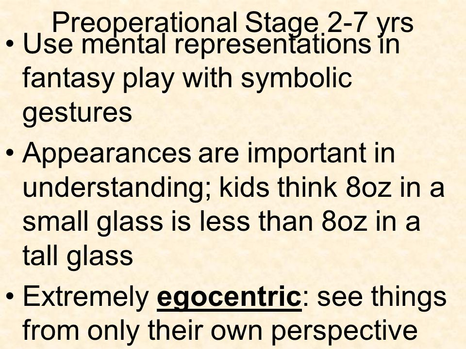 Preoperational Stage 2-7 yrs