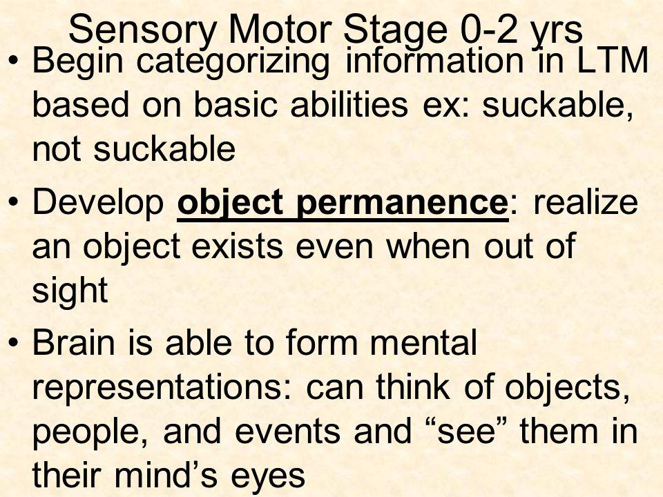 Sensory Motor Stage 0-2 yrs