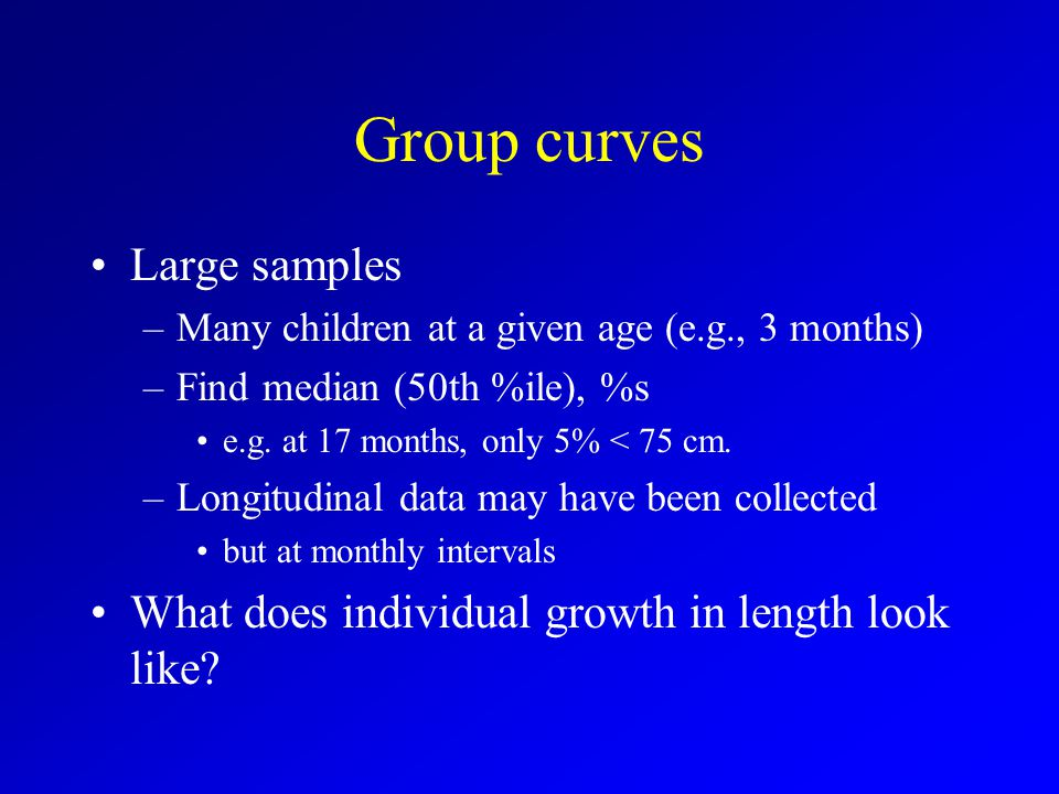 Group curves Large samples