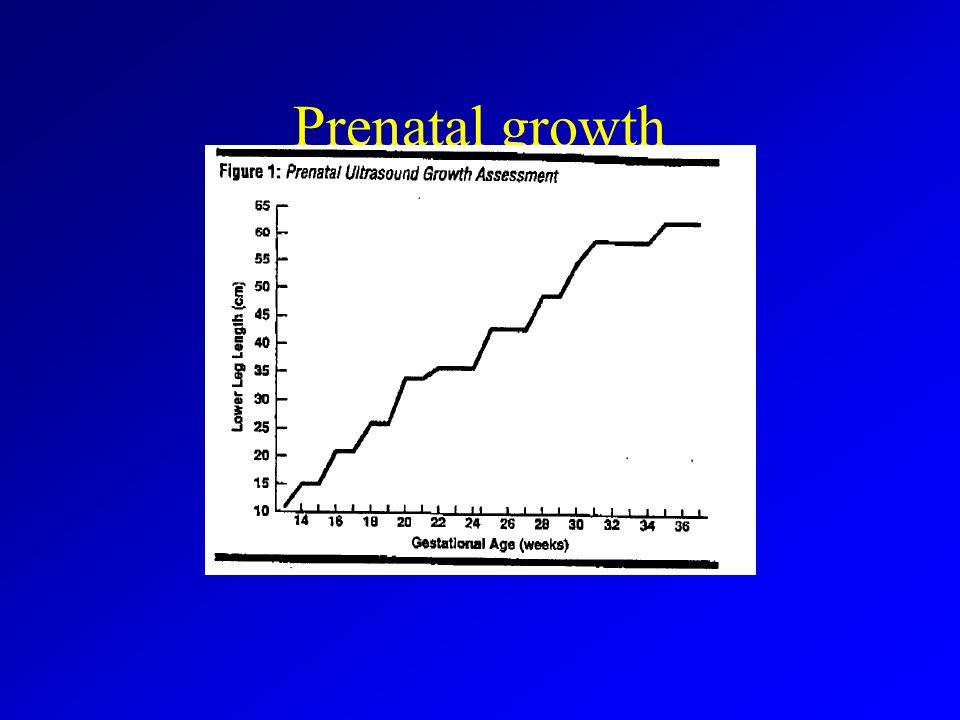 Prenatal growth