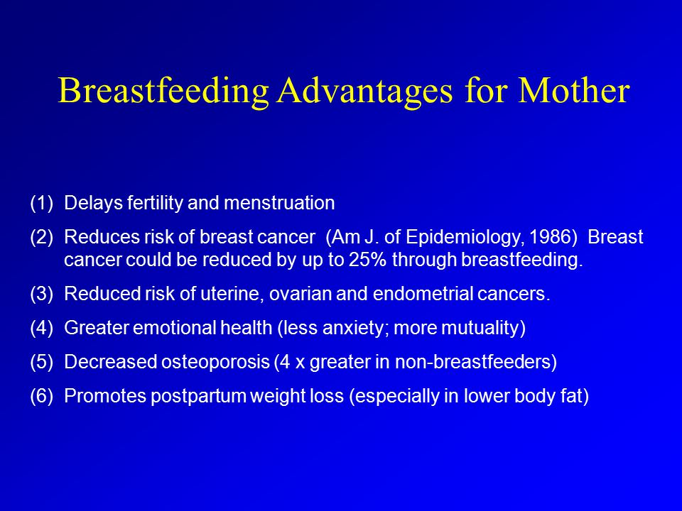 Breastfeeding Advantages for Mother