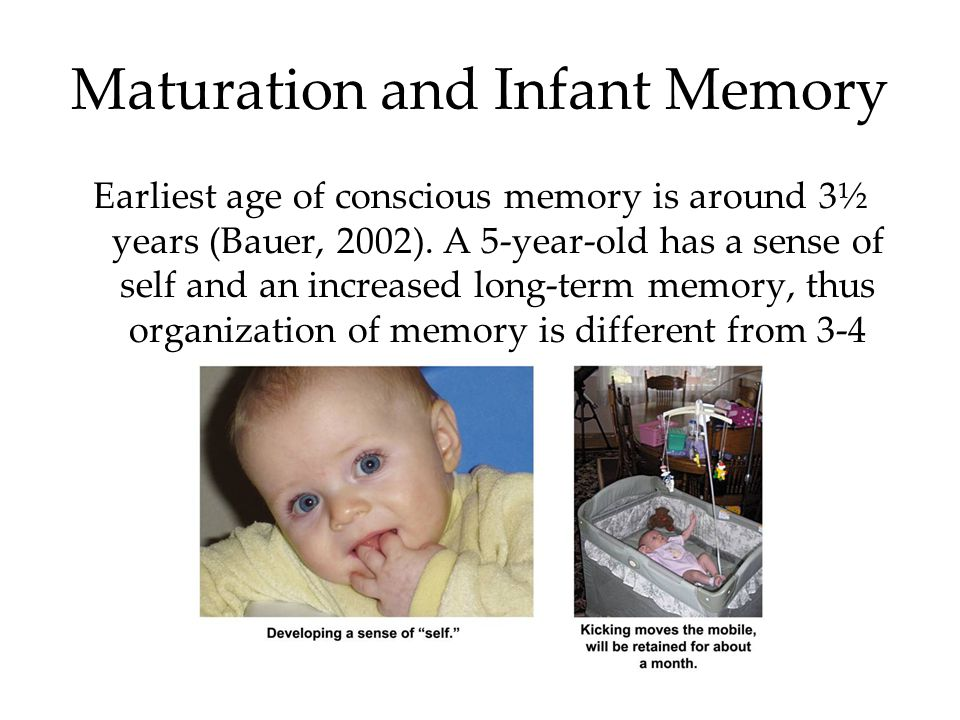 Maturation and Infant Memory