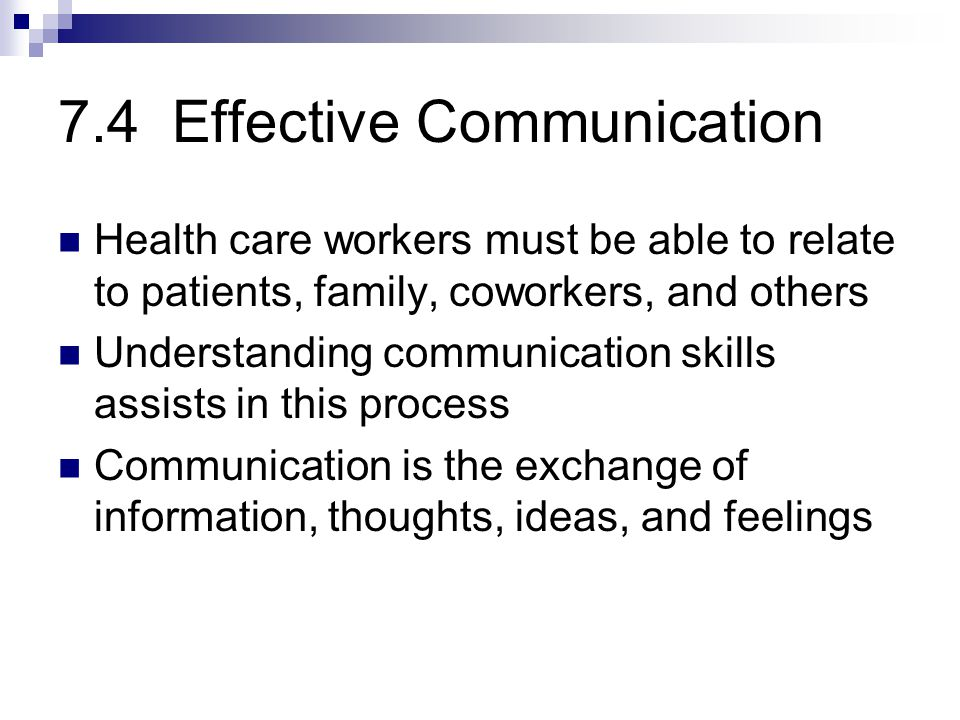 7.4 Effective Communication