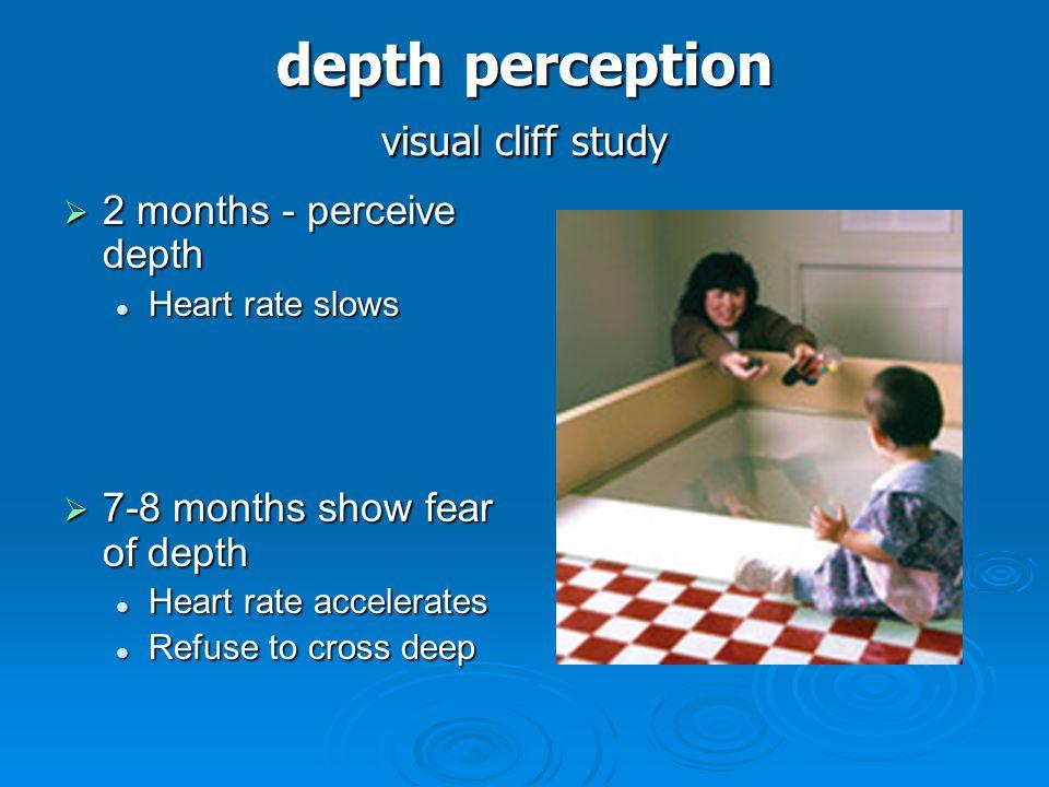 depth perception visual cliff study