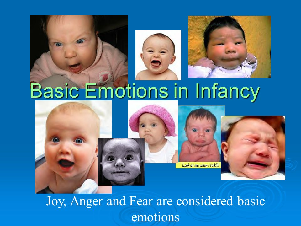 Joy, Anger and Fear are considered basic emotions