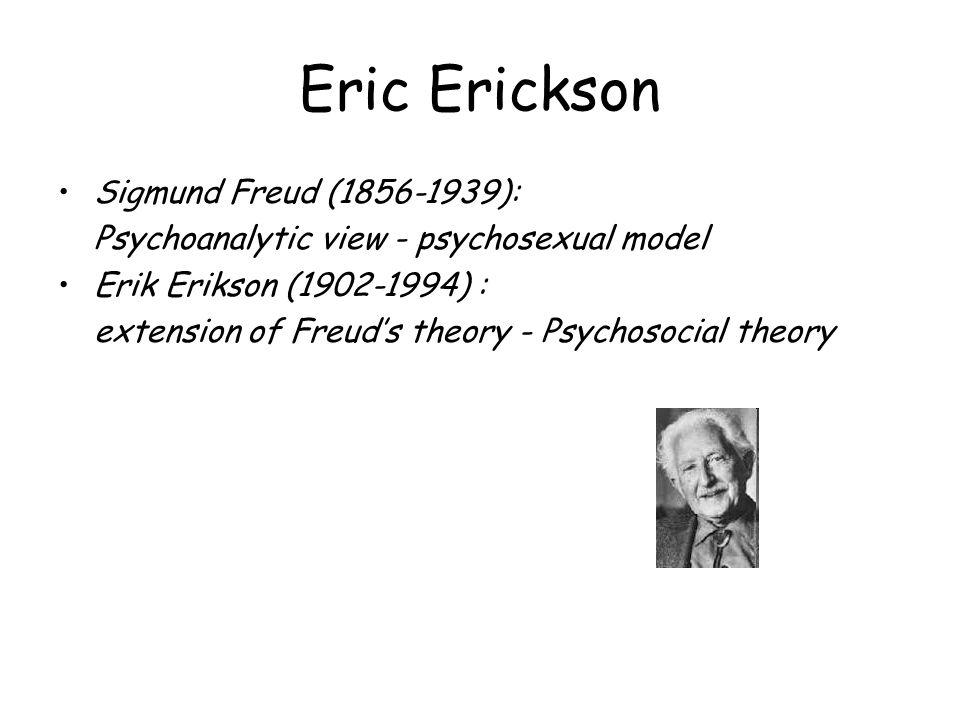 Eric Erickson Sigmund Freud (1856-1939):
