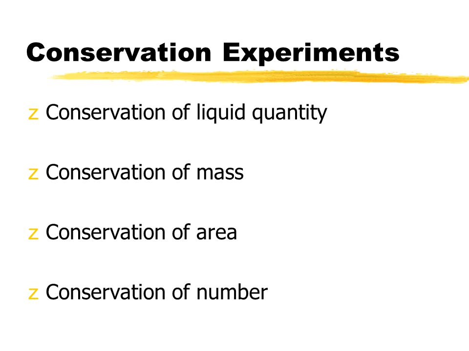 Conservation Experiments