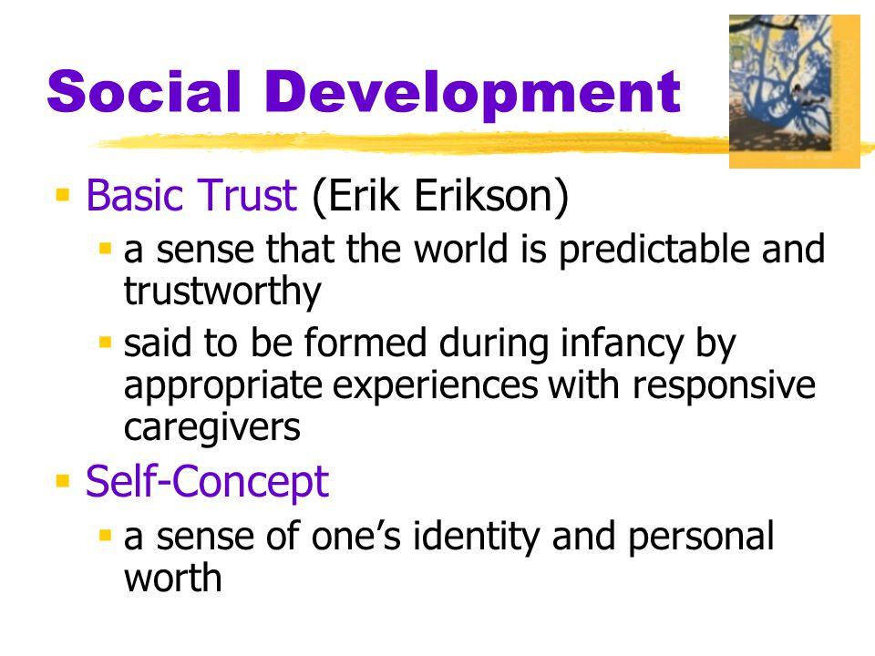 Social Development Basic Trust (Erik Erikson) Self-Concept