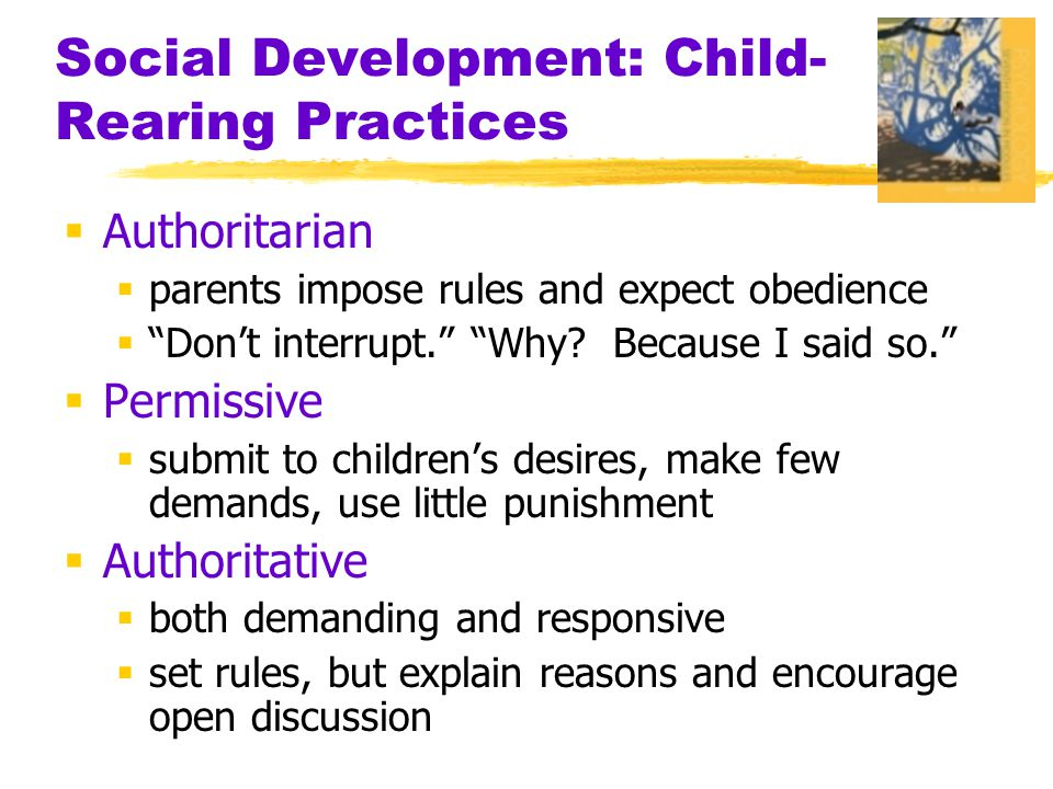 Social Development: Child-Rearing Practices