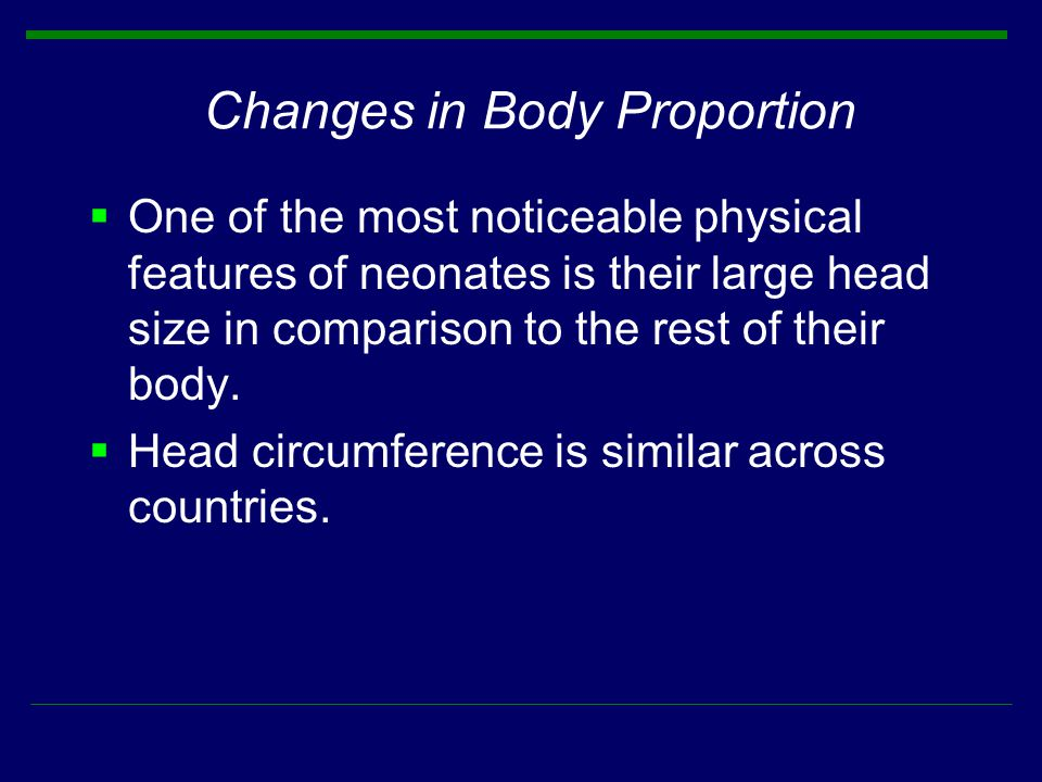 Changes in Body Proportion