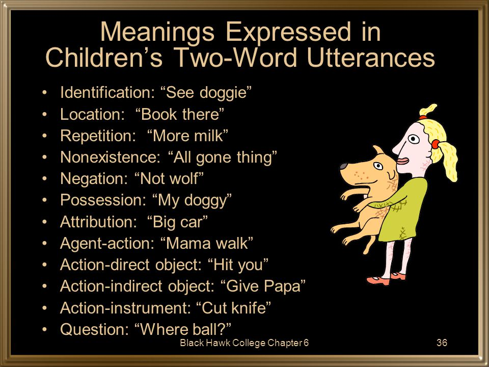 Meanings Expressed in Children's Two-Word Utterances