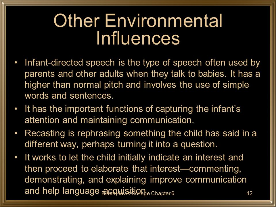 Other Environmental Influences
