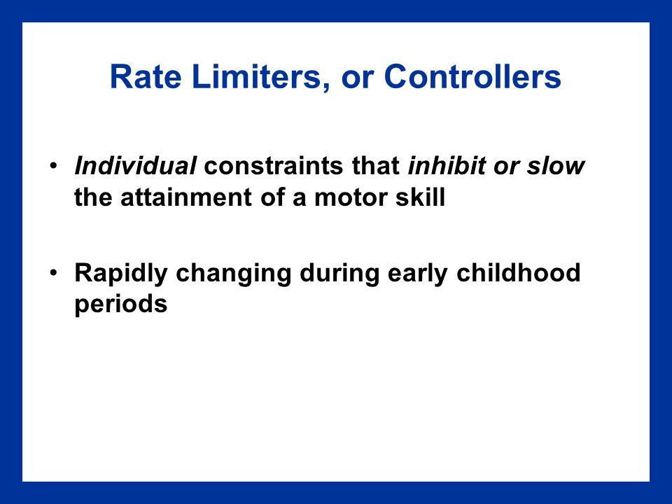 Rate Limiters, or Controllers