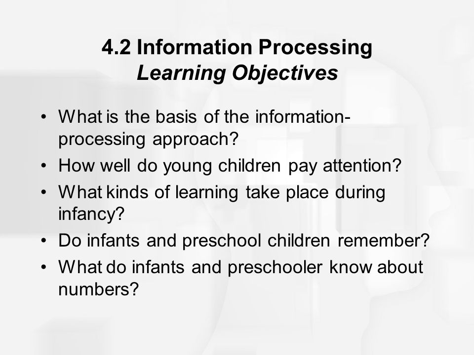 4.2 Information Processing Learning Objectives
