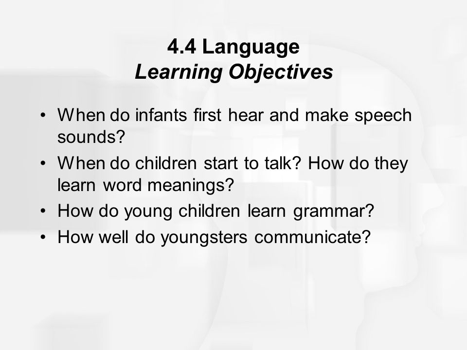 4.4 Language Learning Objectives