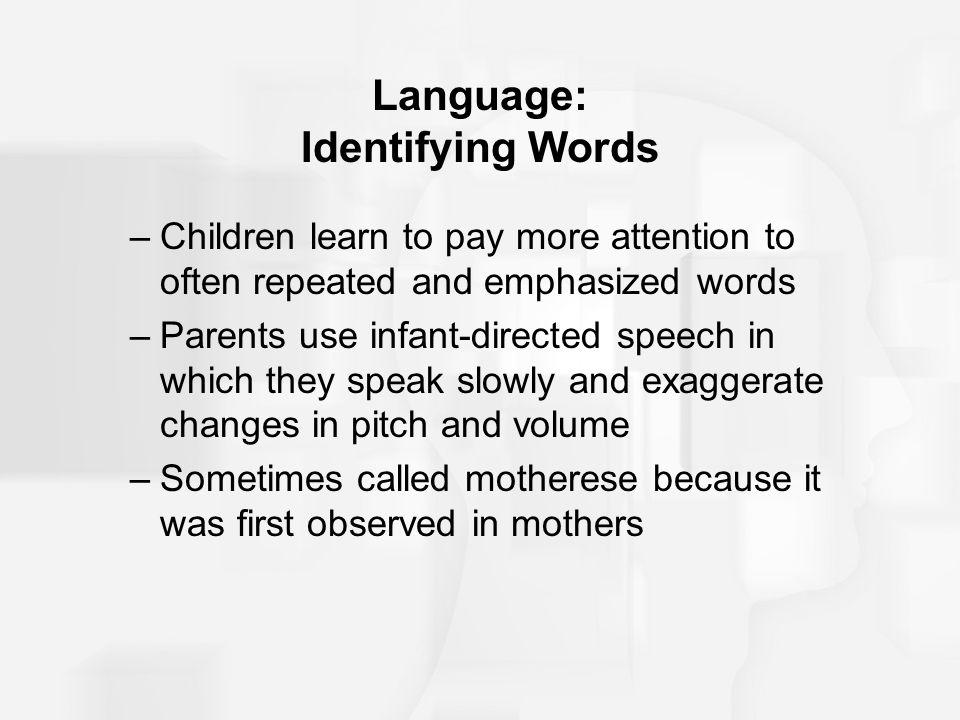 Language: Identifying Words