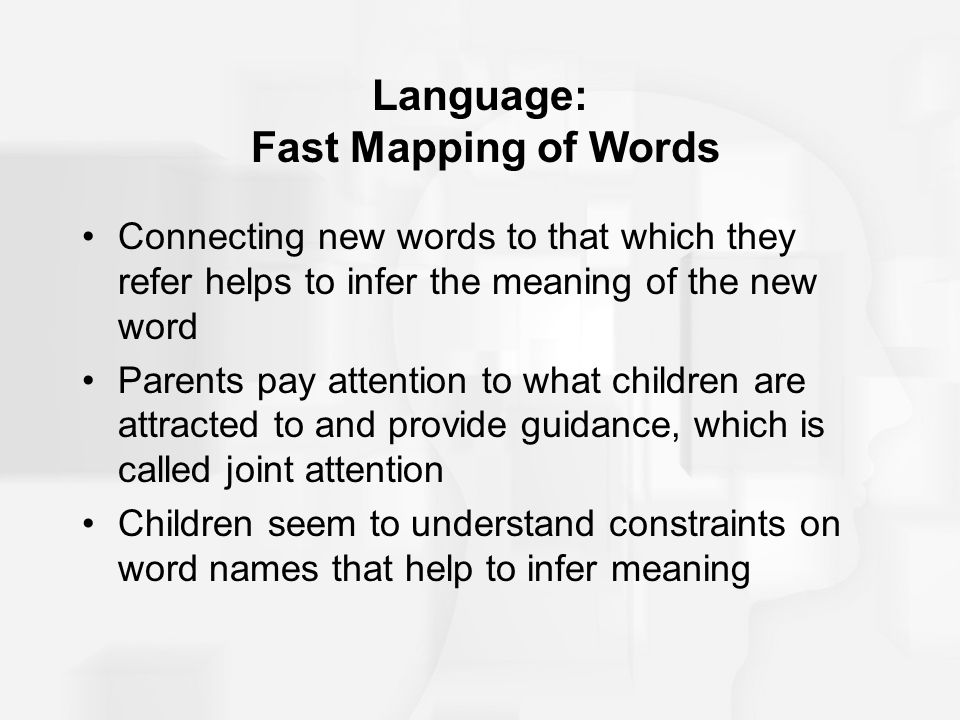 Language: Fast Mapping of Words