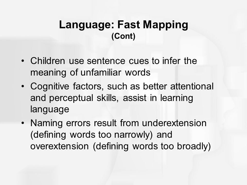Language: Fast Mapping (Cont)