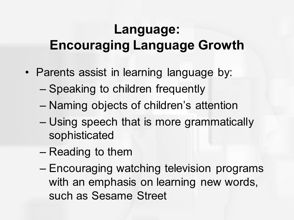 Language: Encouraging Language Growth