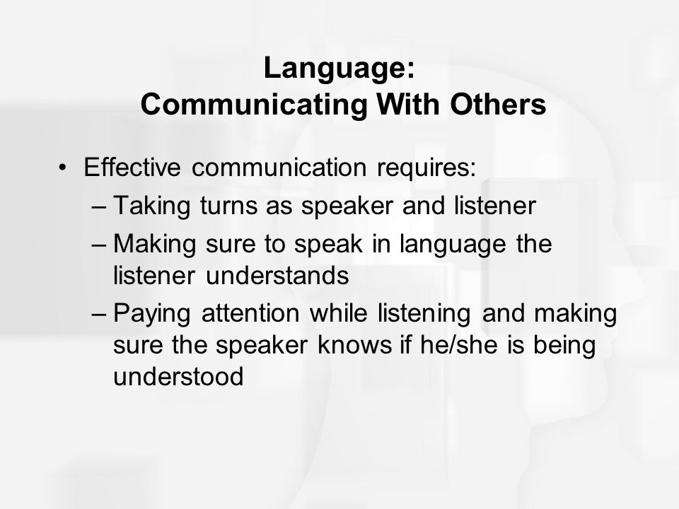 Language: Communicating With Others